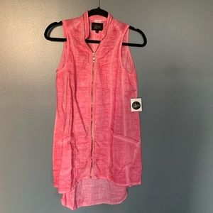 Luii Tank Pink Zip Up Dress Pink Size Small